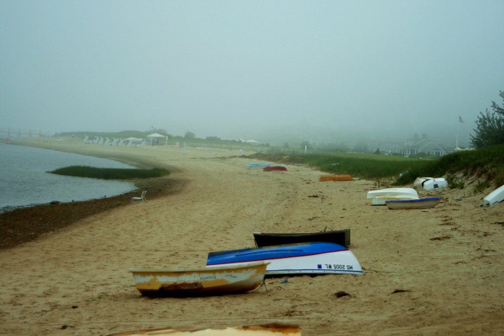 Chatham Boats In Fog - Arnold Kaplan Photography